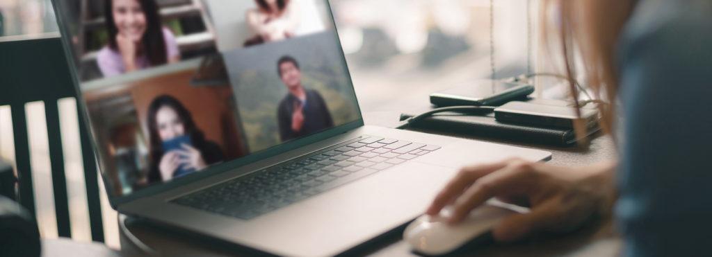 Videokonference on a laptop